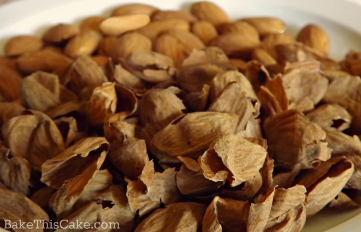 Dried Almond Skins after blanching by bakethiscake