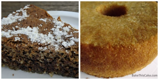 Chocolate Almond Torte Caprese and Mrs. Lincoln's Vanilla Almond Pound Cake by bake this cake