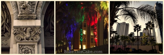 DTLA buildings holiday palm tree  sights by bakethiscake