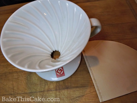 Hario Ceramic Dripper for pour over coffee by bakethiscake