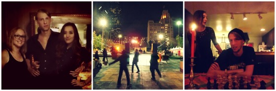 The Kids at Home, Dancing to a DJ in Pershing Square, Chess at Home