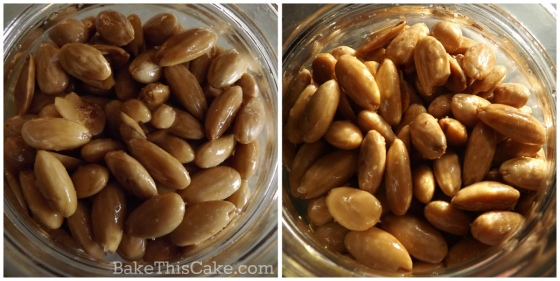 Light and Golden Roasted Almonds collage by bake this cake