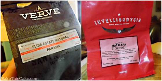 Verve and Intelligentsia special coffee beans by bakethiscake