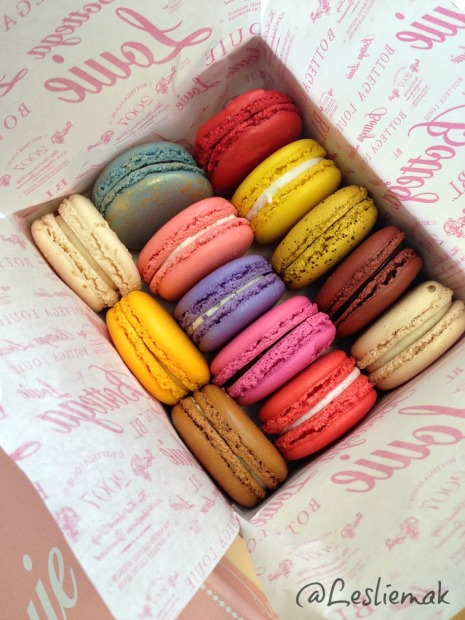 Bottega Louie Macaron's Downtown LA photo by Leslie Macchiarella
