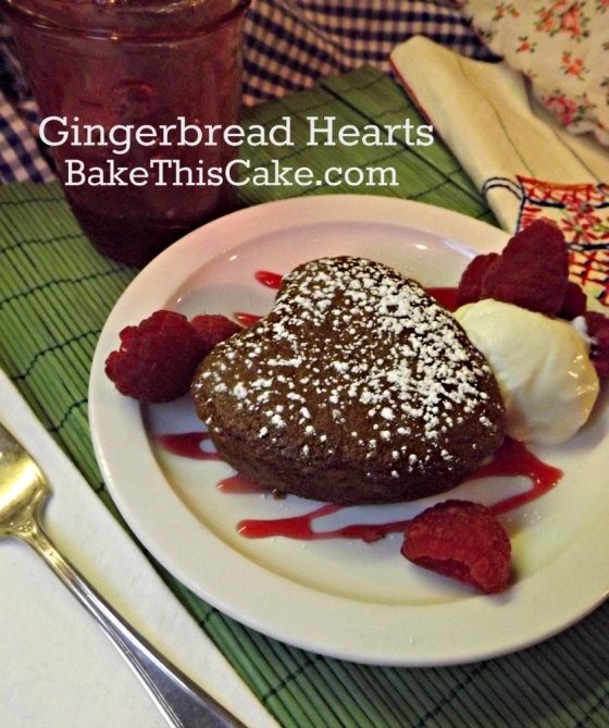 Gingerbread Hearts Cake gingerbread cake recipe by bake this cake