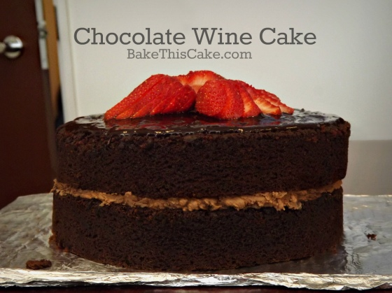 Chocolate Wine Cake recipe by Bake ThisCake