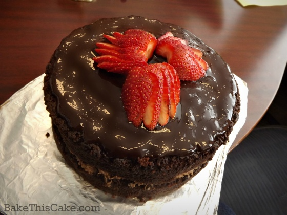 Overview chocolate wine dinner party cake with ganache frosting by bake this cake