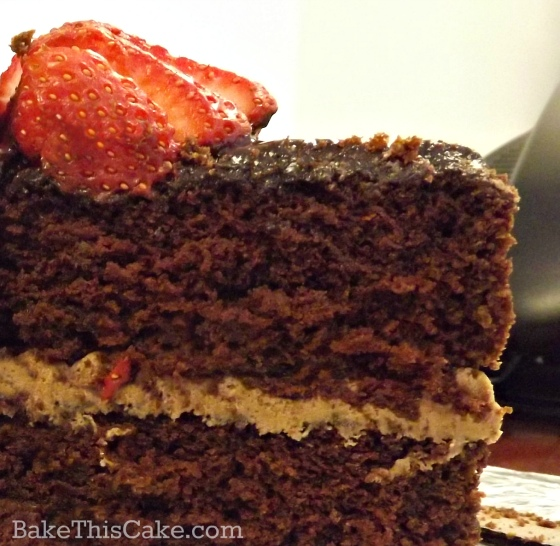 Slice of Chocolate Wine Boozy Dinner Cake by bake this cake