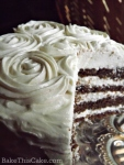 Vintage natural brown red velvet cake with no red food coloring by bakethiscake