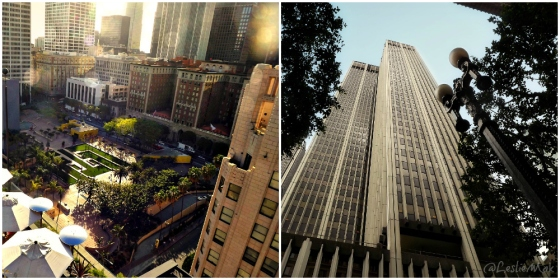 Dowtown LA Collage Pershing Square and 6th and Grand by Leslie Macchiarella