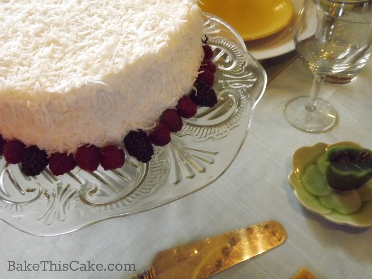 Grandma Margaret's Vintage Coconut Cream Cake by bake this cake