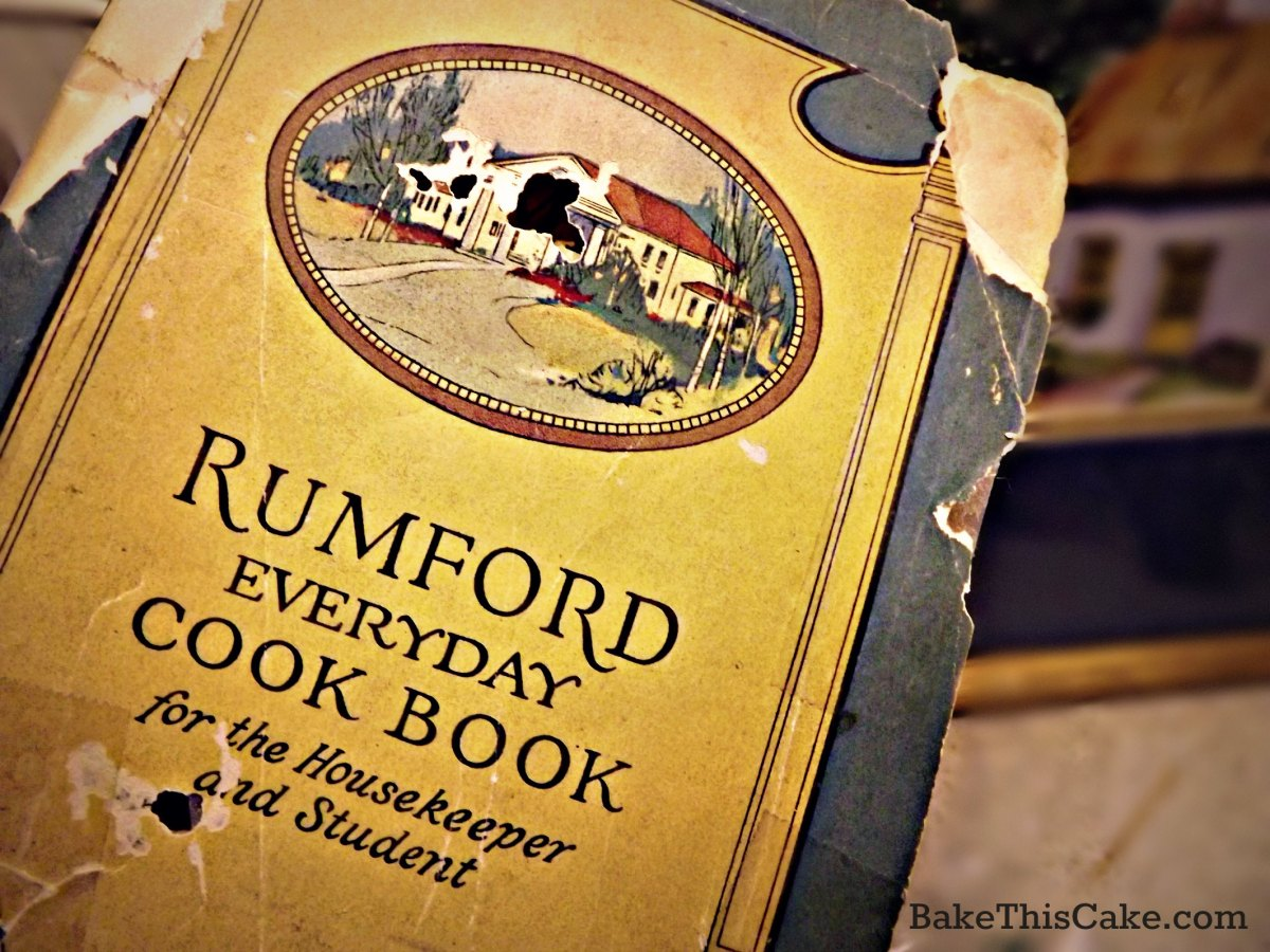 Rumford Everyday Cookbook vintage recipes by bake this cake