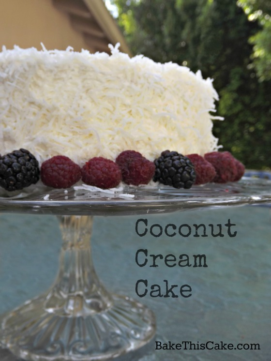 Vintage Coconut Cream Cake card by bake this cake