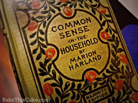 Common Sense in the Household book cover by bakethiscake