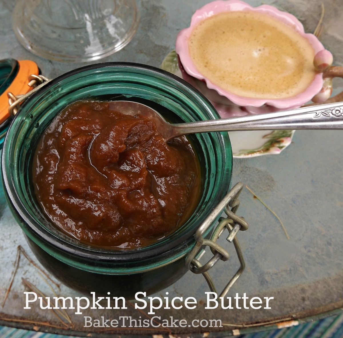 pumpkin spice butter with apple cider by bakethiscake