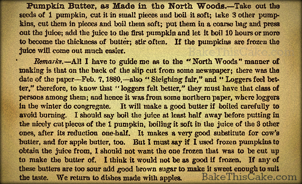 pumpkin butter 1880 dr chases third last-and complete receipt book bake this cake