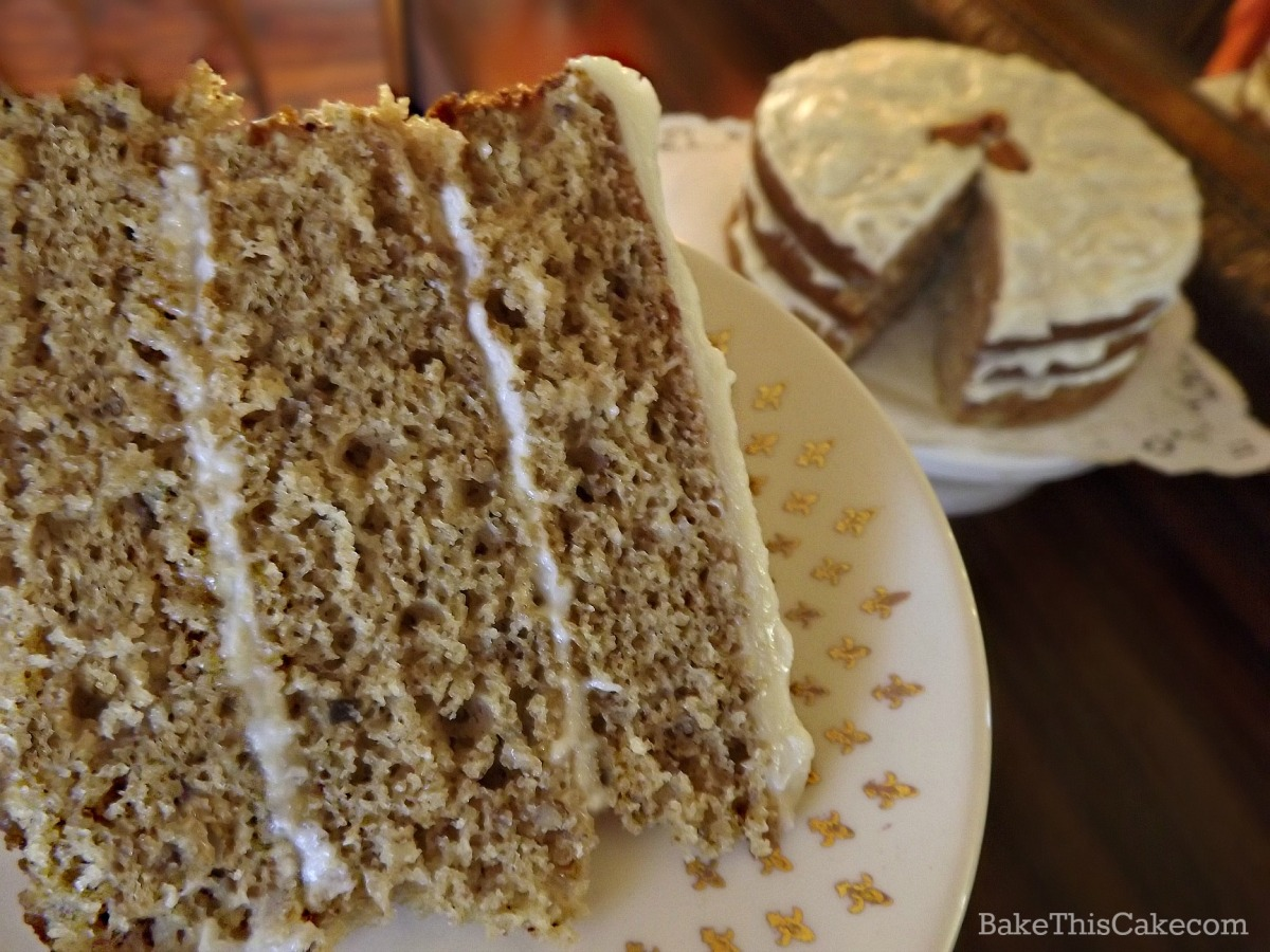 A nice slice of old fashioned maple syrup cake by bake this cake