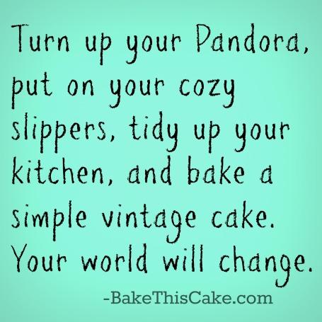 Bake a vintage cake card by bake this cake