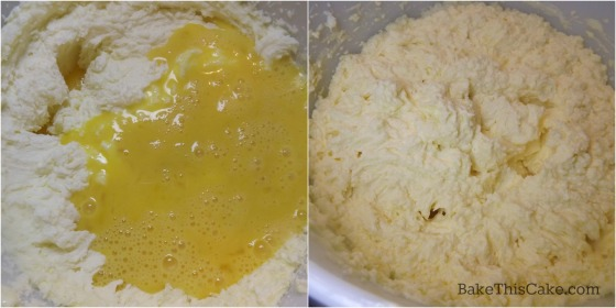 Beating eggs into Election Day Cake batter by bakethiscake