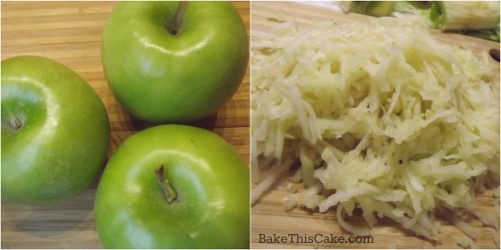 Grated Apples for Grandma's Wooden Spoon Apple Cake by bake this cake