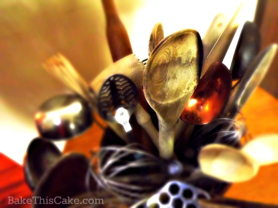 My favorite wooden spoon by bake this cake