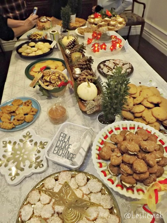 Food Bloggers Los Angeles FBLA Holiday Cookie Exchange pic by Bake This Cake com