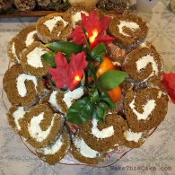 Holiday spiced sweet potato roll cake by Bake This Cake com
